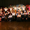 "Gloucester: Plum Cove Elementary School students sing ""Supercalifragilisticexpialidocious"" during their performance of ""Mary Poppins,"" which ran Thursday and Friday. Students in grades 3-5 participated in the show through acting, dancing, and assisting with the set. Photo by Kate Glass/Gloucester Daily Times"