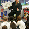 "Gloucester: Gordon Baird reads ""All the World"" to the students in Marla Polizzia's kindergarten class at Beeman Elementary School as part of First R Reading program Friday morning. Mary Muckenhoupt/Gloucester Daily Times"