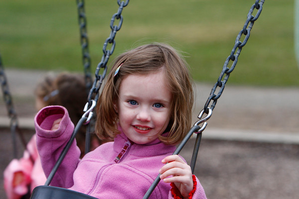 Manchester: Aisling Twombley, 3, of Manchester swings on the swings at Masconomo Park Wednesday afternoon. Mary Muckenhoupt/Gloucester Daily Times