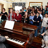 Rockport: The Rockport High School chorus sings selections from Les Miserables with director Jim Davison playing paino as they perform for the Rockport Rotary members at the Emerson Inn Thursday afternoon. Mary Muckenhoupt/Gloucester Daily Times