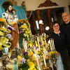 Gloucester: Josephine and Anthony Ciolino of Gloucester stand near their altar for Saint Joseph that they set up in preparation for the Feast of Saint Joseph, which is on Friday. Anthony's family has been honoring Saint Joseph since their arrival in America in 1946. Photo by Kate Glass/Gloucester Daily Times