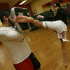 Gloucester: Pedro Gonzalez trains with his brother, Christian Rivera, as he prepares for the Bantam Weight Title Match in the Global Fight League. Photo by Kate Glass/Gloucester Daily Times