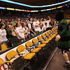Boston: The Manchester Essex Hornet gets the crowd fired up at the start of the MIAA Division 4 State Finals at the TDGarden in Boston yesterday. Photo by Kate Glass/Gloucester Daily Times