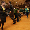 Gloucester: Sarah Slifer and Matthew Swift dance to the music of Easter Snow during a Celtic Music Celebration at City Hall on Sunday. The event was a fundraiser for the restoration of city hall. Photo by Kate Glass/Gloucester Daily Times