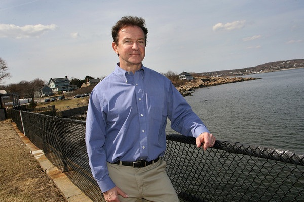 Gloucester: Peter Andersen, standing in the back yeard of his Rockport home, was recently featured in Forbes magazine. Mary Muckenhoupt/Gloucester Daily Times