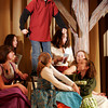 """Gloucester: Jack Favazza, who plays Gaston in O'Maley Middle School's production of """"Beauty and the Beast,"""" performs the song, """"Gaston,"""" with his castmates. This is the final weekend for the show with performances tonight at 7pm and tomorrow at 1pm. Photo by Kate Glass/Gloucester Daily Times"""