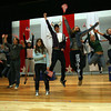 "Manchester: The Manchester Essex Regional High School Drama Club rehearses a scene from ""The Complete History of America Abridged,"" which they will be performing on Saturday at 10am during the Mass. Educational Theater Guild Dramafest. The school is hosting dramafest, which features plays from 8 schools including Manchester Essex and Gloucester. Photo by Kate Glass/Gloucester Daily Times"