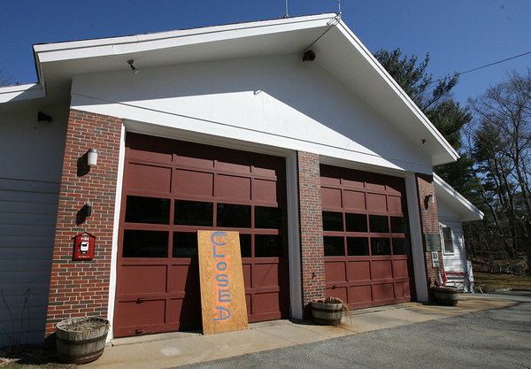The West Gloucester Fire Station was closed yesterday due to a combination of lack of manpower and a lack of overtime funding. Photo by Kate Glass/Gloucester Daily Times