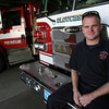 "John ""Polo"" Cooney, a Gloucester firefighter and paramedic, has spent 6 months working with a medevac unit in Iraq and will be returning on Friday to complete his tour. Photo by Kate Glass/Gloucester Daily Times"