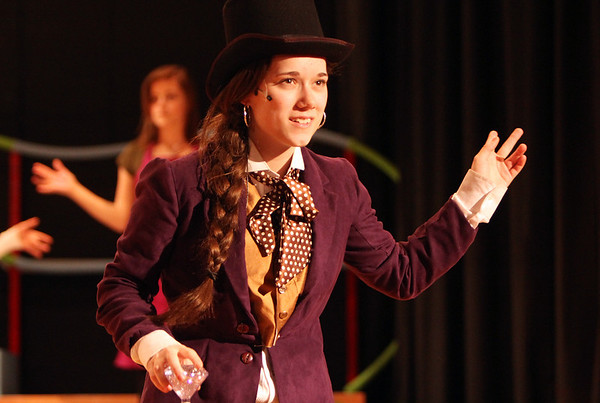 "ALLEGRA BOVERMAN/Staff photo. Gloucester Daily Times. Gloucester: Madison Smith is Willy Wonka in the upcoming O'Maley Middle School production of ""Willy Wonka Junior."""