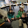 "ALLEGRA BOVERMAN/Staff photo. Gloucester Daily Times. Gloucester: Mayor Carolyn Kirk reads ""Mrs. Katz and Tush"" with third graders in Steve Mirandi's class at Veterans Memorial Elementary School on Friday. About 13 ""local celebrities"" were on hand to read to every classroom in the school."