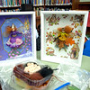 Essex: Here are some of Elizabeth Rush's finished fairies in a boxed frame that she brought along to the Manchester Public Library Saturday morning for her Fairy Doll workshop. Each child got to put together a preassembled fairiy, in about six steps with some help. Desi Smith/ Gloucester Daily Times. March 3,2012.