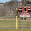 Gloucester: Newly renovated left field fence and scoreboard at Nate Ross Field in Gloucester. Jim Vaiknoras photo