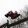 ESSEX—Second-grader Haley Jackson enjoys the swingset at the Essex Elementary School playground on Wednesday afternoon. Jesse Poole/Gloucester Daily Times March 14, 2012