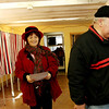 ALLEGRA BOVERMAN/Staff photo. Gloucester Daily Times. Gloucester: Ed Kaznocha, right, and his wife Amy Shapiro-Kaznocha vote at the Lanesville Community Center on Super Tuesday.