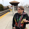 ALLEGRA BOVERMAN/Staff photo. Gloucester Daily Times. Gloucester: Henry Allen just missed the 2:08 p.m. commuter train to Boston on Wednesday afternoon.