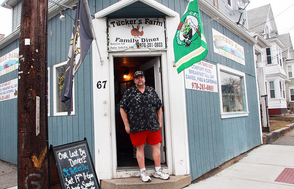 GLOUCESTER—David Tucker, owner of Tucker's Farm Family Dinner at 67 Maplewood Ave., stands outside his restuarant on Wednesday afternoon. His cozy restaurant is closing at the end of this coming weekend. Jesse Poole/Gloucester Daily Times March 14, 2012