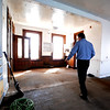 Gloucester: Mark Hayes walks through a partially renovated section of the old paint factory on Rocky Neck in Gloucester. Jim Vaiknoras photo<br /> , Gloucester: Mark Hayes walks through a partially renovated section of the old paint factory on Rocky Neck in Gloucester. Jim Vaiknoras photo
