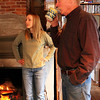 ALLEGRA BOVERMAN/Staff photo. Gloucester Daily Times. Gloucester: Artist Dennis Flavin of Annisquam in his home studio with his daughter Ariel Flavin.