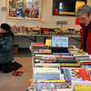 ALLEGRA BOVERMAN/Staff photo. Gloucester Daily Times. Rockport: The Friends of the Rockport Public Library is holding a book sale all weekend at the library on School Street from 10-5 on Saturday and 1-5 on Sunday. From left are Elizabeth Harty of Rockport and Diane Usewick of Gloucester browse on Friday.