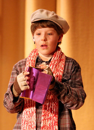 """ALLEGRA BOVERMAN/Staff photo. Gloucester Daily Times. Gloucester:  Jared Gilman is Charlie in the upcoming O'Maley Middle School production of """"Willy Wonka Junior."""""""