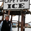 Allegra Boverman/Gloucester Daily Times. Scott Memhard of Cape Pond Ice at the Commercial Street headquarters in Gloucester on Tuesday.