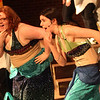 """Allegra Boverman/Gloucester Daily Times. From left are """"mersisters"""" Hannah Sears and Rebecca Dowd (along with Jesse Alexander, not shown)  in the O'Maley Innovation Middle School's Performing Arts Department production of Disney's Little Mermaid Junior. There are two separate casts in the production."""
