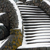 Allegra Boverman/Gloucester Daily Times. A the details in a stairway along Barberry Way in Gloucester comes sharply into focus covered in snow on Tuesday during the snowstorm.