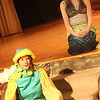 Allegra Boverman/Gloucester Daily Times. Johanna Couture-Porcaro, top, is Ariel and Corryn Ulrich is Flounder in the he O'Maley Innovation Middle School's Performing Arts Department production of Disney's Little Mermaid Junior. There are two casts for the production.