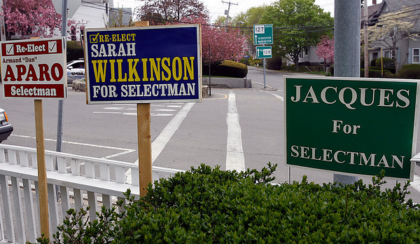Rockport: Polls will be open from 7am to 8pm for Rockport residents to cast their ballot for two seats on the board of selectmen. The three candidates are Armand Aparo, Sarah Wilkinson, and Sandy Jacques. Photo by Kate Glass/Gloucester Daily Times Monday, May 4, 2009