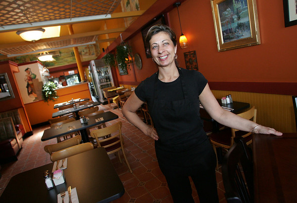 Gloucester: Annette Perrine, owner of Espresso Restorante and Pizzeria on Main Street. Mary Muckenhoupt/Gloucester Daily Times