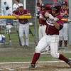 Gloucester: Gloucester junior Brett Cahill hits a single during the Division 1 North first round baseball game against Waltham at Nate Ross field Friday afternoon. Gloucester defeated Waltham 15-2 to advance the the Division 1 North quarterfinals.
