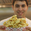 Rockport: Nate xxxx hods up a box of fried clams in the kitchen of his new restaurant xxxxxx.  Mary Muckenhoupt/Gloucester Daily Times