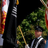 Gloucester: Gloucester firefighter John Nicastro participates in yesterday's Memorial Day ceremony at Kent Circle. Photo by Kate Glass/Gloucester Daily Times Monday, May 25, 2009