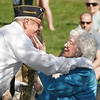 Essex: Essex Veterans honor Gold Star Mother Mrs. Barbara Moore during their Memorial Day Ceremony at Memorial Park yesterday morning. Photo by Kate Glass/Gloucester Daily Times Monday, May 25, 2009