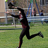 Rockport: Rockport's Lauren McKechnie reaches for a pop-up during their game against Triton yesterday afternoon. Photo by Kate Glass/Gloucester Daily Times Wednesday, May 6, 2009