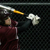 Gloucester: Gloucester's Jimmy Nicolosi follows the ball as he hits a two-run double during the 4th inning of their game against Lynn Classical last night. Photo by Kate Glass/Gloucester Daily Times Monday, May 4, 2009
