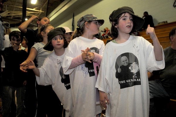 Gloucester: Fans wait for Gloucester police officer Scott (The General) Dufney to enter the ring at the Fuller School Saturday night. Desi Smith Photo/Gloucester Times. May 31,2009