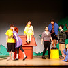 "Rockport: The cast of Rockport High School's production of ""You're A Good Man, Charlie Brown"" rehearses the song ""Happiness"" on Tuesday afternoon. The play is showing Friday, May 15, at 7:30, Saturday, May 16, at 2:30 and 7:30 and Sunday, May 17, at 12:30. Tickets are $10, $7 for students and seniors. Photo by Kate Glass/Gloucester Daily Times Wednesday, May 12, 2009"