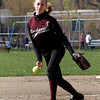Rockport: Kristen Turner, a freshman on the Rockport High School softball team, has been a reliable pitcher for the team. Photo by Kate Glass/Gloucester Daily Times Wednesday, May 6, 2009