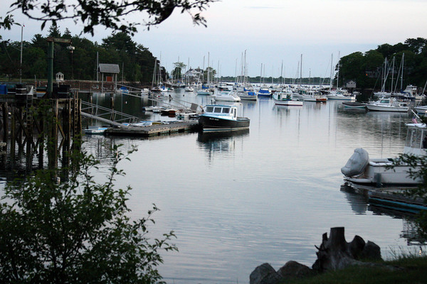 Manchester: All was calm in Manchester Harbor on Tuesday evening before the rain blew in. Photo by Julia Bishop/Gloucester Daily Times