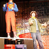 "Manchester: Piper Browne, left, and Connor Hoff rehearse a scene from Manchester Essex High School's production of ""Godspell."" The show will run Thursday, May 14, Friday, May 15, and Saturday, May 16, all at 7 pm at the Manchester Memorial School auditorium. Adult tickets are $10 and student and senior citizen tickets are $8. Photo by Kate Glass/Gloucester Daily Times Wednesday, May 12, 2009"