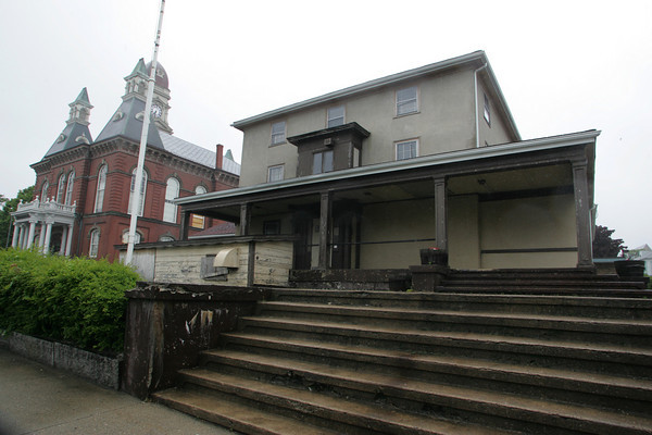 Gloucester: The Moose Hall building across the street from the Cape Ann Museum has been purchased by the Cape Ann Museum to will be used for a park and for additional parking.  Mary Muckenhoupt/Gloucester Daily Times