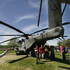 Gloucester: Students at Gloucester High School check out the CH-53E helicopter, the biggest helicopter the Marines have, that landed in the softball field at Gloucester High School in honor of Marines Week Friday afternoon.  The helicopter stayed at the school until 3 p.m. before heading back to Hanscom Air Force Base. Mary Muckenhoupt/ Gloucester Daily Times