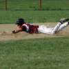 Gloucester: Gloucester's Gilbert Brown slides safely into second during the baseball game against Peabody at Nate Rose Wednesday afternoon. Mary Muckenhoupt/Gloucester Daily Times