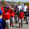 Gloucester: Kyle Casucci cheers for the Phillies while walkin gthe Gloucester Little league Parade Saturday afternoon. The parade began at Burnahm's field and ended at Boudreau field with the first game of the season. Mary Muckenhoupt/Gloucester Daily Times