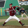Gloucester: Gloucester pitcher Sean Hull winds up a pitch the fifth inning of the Gloucester vs. Danvers baseball game at Nate Ross Field Wednesday night. Mary Muckenhoupt/Gloucester Daily Times