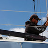 Manchester: Charlie Herrick works on rigging out one of the sailboats at Crocker's Boat Yard Thursday afternoon. Mary Muckenhoupt/Gloucester Daily Times