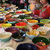 Gloucester: Emma Christopher, right, and her friend, Madelyn Christensen, both of Rockport, pick out matching bowls during the Open Door's 10th Annual Empty Bowl Dinner at Cruiseport last night. Photo by Kate Glass/Gloucester Daily Times