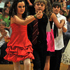 Gloucester: Ysabella Tocantins 10, and Dan Wieman 11, dances the Tango at the Mad Hot Ball held at the GHS on Sunday afternoon. Desi Smith Photo/Gloucester Daily Times. May 2,2010.